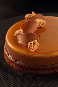 Brownie, milk chocolat & caramel entrement