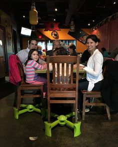 Kids love eating at the table with mom & dad thanks to KABOOST!! Family dinners at a restaurant are so much easier when you don't have to carry a bulky high chair or booster with you!