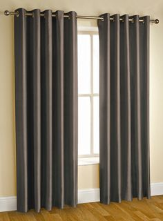 """Extra Long Faux Silk Fully Lined Eyelet Curtains 90"""" x 108"""" inches Ring Top"""