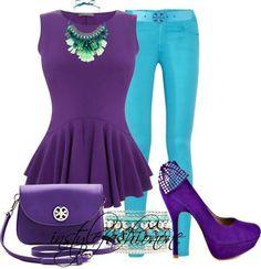 Purple/Turquoise