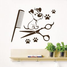 Dog Wall Decals Grooming Salon Pets Decal by WallDecalswithLove