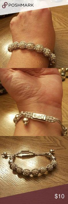 ***FLASH SALE***Silver rhinestone grey Never been worn. Balla bracelet balla Jewelry Bracelets