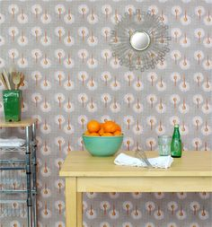 Oh, boy!  Spoonflower now has (non-vinyl) custom wallpaper and wall decals --Think of the possibilities.