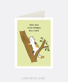 Greeting Cards - Lingvistov.com #funny, #illustrations, #doodles, #joke, #humor, #cartoon, #cute, #comics, #gifts, #cards, #comics, #cats