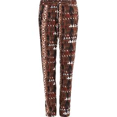 Ethnic Print Pants - Costes