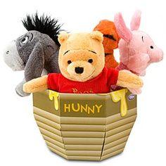 Mini Bean Bag Winnie the Pooh Plush Toy Honey Pot Package -- 9''H -- 4-Pc.