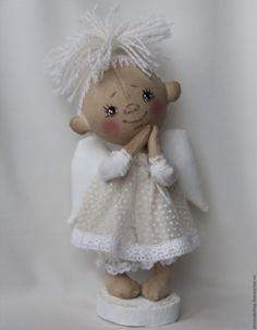 Купить Ангелочек - комбинированный, ангел, Ангел хранитель, кукла ангел, текстильная игрушка, текстильный ангел Angel Crafts, Fabric Toys, Love Craft, Waldorf Dolls, Fairy Dolls, Felt Toys, Soft Dolls, Cute Dolls, Christmas Angels