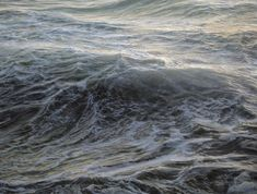 Brooklyn-based painter and surfer Ran Ortner makes remarkable photo-realistic oil paintings of ocean waves.