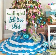 scalloped felt tree skirt
