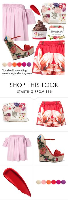 """""""212"""" by erohina-d ❤ liked on Polyvore featuring Lovestruck, Alexander McQueen, F.R.S For Restless Sleepers, Milly, Gucci, Disney, Sisley and Deborah Lippmann"""