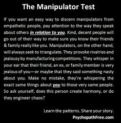 being manipulated in a relationship