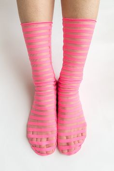 striped Andi pink socks in