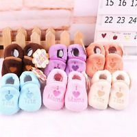 Hot Baby Boy Girl Infant Winter Coral Fleece Soft Sole Crib Shoes 0-12Months