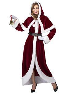 a6e87c6fe7f7a Déguisement de Mère Noël Super Luxe adulte   Ce magnifique déguisement de  Mère Noël est pour