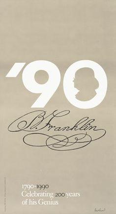 Paul Rand,   '90 (Ben Franklin), 1990