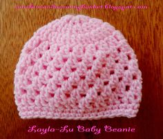 tutorial for this beanie with pattern from newborn right up to 18 24 months sunshine and a sewing basket layla lu beanie - PIPicStats Crochet Baby Hat Patterns, Crochet Baby Beanie, Crochet Baby Clothes, Baby Knitting, Booties Crochet, Bonnet Crochet, Crochet Cap, Free Crochet, Crocheted Hats