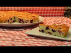 Receta fácil de tarta de frutos rojos muy jugosa - YouTube
