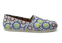 TOMS Geometric Moroccan Navy Women's Classics // a kaleidoscope of colors