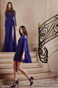 ELIE SAAB PRE-FALL 2014 - Fashion Diva Design. blue dress in the background!