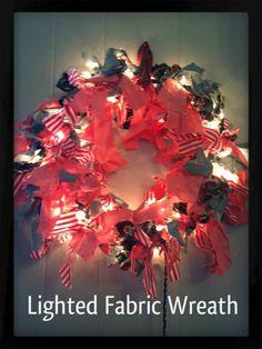 lighted fabric wreath