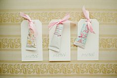 lollia hand creme baby shower favors with merci tags