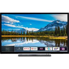 Toshiba Smart Full-HD LED TV with Freeview Play - Black/Silver Model) * Choose from Toshiba's huge range of music, video, TV and social media apps. Dvb T2, Smart Tv, Tv 3d, Tv Led 32, Led Tvs, Support Mural Tv, Strip Led, Tv Samsung, Ponchos
