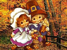 Retro Thanksgiving Artwork by jessaminnie, via Flickr
