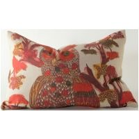 Orange Owl (12X17) Lumbar Pillow