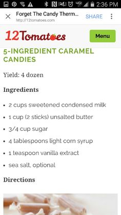 5 Ingredient Carmel I