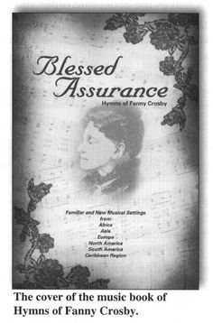 The cover of the music book of Hymns by Fanny Crosby