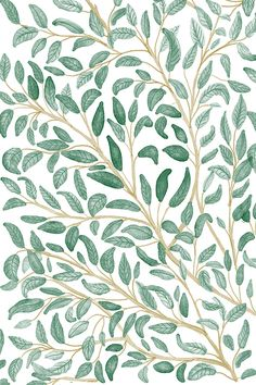 Green Leaves Pattern By Chotnelle