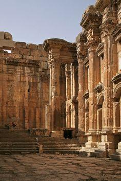Temple of Bacchus, Baalbek, Lebanon by Bill Hocker