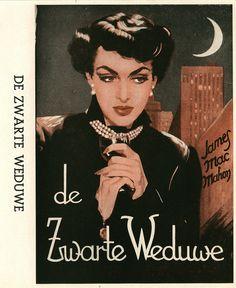 Dutch detective of James MacMahon - de zwarte weduwe (the black widow.) Published by Schoonderbeek in 1952