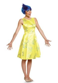 Deluxe Adult Inside Out Joy Costume I made mine but I'm surprised they already offer these online!