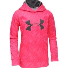Pink and Gray Under Armour sweatshirt for girls