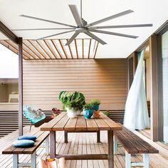 Fancy a holiday at home? Airfusion Resort delivers a resort style vibe inside or out. #alfresco #relax #ceilingfan #entertain #outdoor