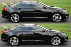 Kia Optima Black Rims | borrowed the photo from the ride of the month. Nice color choice!