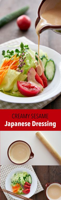 This easy sesame Wafu Dressing is just like the ones you get in Japanese restaurants. Here's how to make the best Japanese-style dressing.