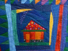 Nähanleitung und Schnittmuster für einen Quilt im Format von 1.82x2.00m von Tula Pink, genäht mit Stoffen aus der Moonshine-Kollektion.