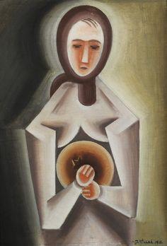 "Josef Capek ""Kontemplace"", no date Georges Braque, Writers And Poets, Diego Rivera, Beautiful Paintings, Artist Art, Candle Sconces, Illustrators, Joseph, Modern Art"