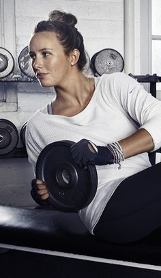 Weight lifting is not only for men, woman can do it too! Don't be scared!