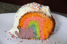 Rainbow Bundt Cake!