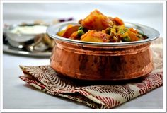 Aloo Matar ~ Potatoes and Peas in a Tomato Gravy