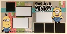 Cricut with Heart: One in a Minion layout