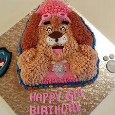 Skye cake. Paw patrol Paw Patrol, Baked Goods, Homemade, Baking, Heart, Cake, Pastel, Baking Supplies, Bakken