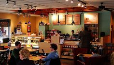 coffee house decor ideas   Homer's Coffee House Common Ground Cafe, Coffee House Decor, Cuppa Joe, Coffee Delivery, Coffee Service, Overland Park, Home Look, Interior Lighting, House Plans