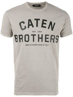 DSQUARED2 Caten Brothers T-Shirt. #dsquared2 #cloth #t-shirt
