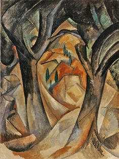 Trees at L'Estaque (1908) by Georges Braque.
