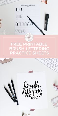Free Brush Lettering Practice Sheets - Free Brush Lettering Practice Sheets Free printable brush lettering practice sheets to help you get the hang of brush calligraphy! Print multiple copies to practice daily. Calligraphy Practice Sheets Free, Alphabet Practice Sheets, Hand Lettering Practice, Calligraphy Print, Modern Calligraphy Alphabet, Copperplate Calligraphy, Learn Calligraphy, Brush Lettering Alphabet, Brush Lettering Worksheet