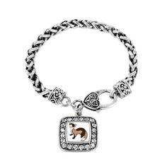 Ferret Classic Braided Charm Bracelet - a sterling silver bracelet